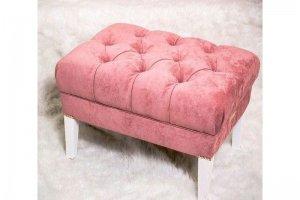 Пуф с каретной стяжкой на ножках - Мебельная фабрика «Алеф+»