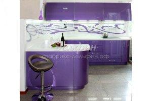 Радиусная фиолетовая кухня - Мебельная фабрика «Дельфин»