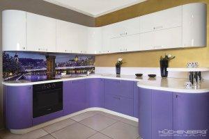 Радиусная кухня  LOFT PERL - Мебельная фабрика «KUCHENBERG»