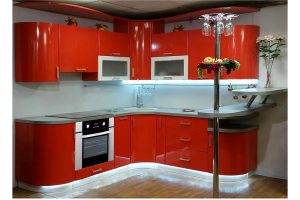 Радиусная кухня Оранж - Мебельная фабрика «Ника-Стиль»