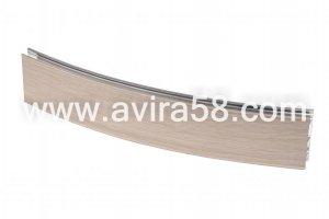 Радиусный алюминиевый профиль Феррара светлая - Оптовый поставщик комплектующих «Авира»