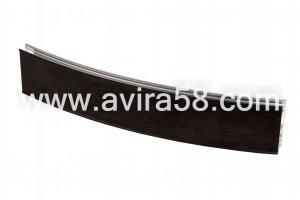 Радиусный алюминиевый профиль Феррара темная - Оптовый поставщик комплектующих «Авира»