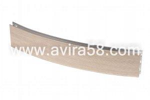 Радиусный алюминиевый профиль Лиственница - Оптовый поставщик комплектующих «Авира»