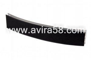 Радиусный алюминиевый профиль Шелк черный - Оптовый поставщик комплектующих «Авира»