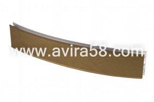 Радиусный алюминиевый профиль Шелк золото - Оптовый поставщик комплектующих «Авира»