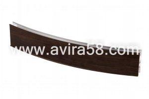 Радиусный алюминиевый профиль Венге - Оптовый поставщик комплектующих «Авира»