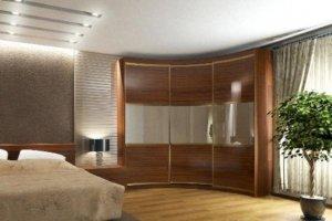 Радиусный шкаф-купе в спальню - Мебельная фабрика «HOLZ»