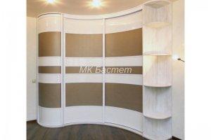 Радиусный угловой шкаф-купе Р-11 - Мебельная фабрика «Бастет»