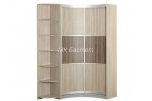 Радиусный угловой шкаф-купе Р-9 - Мебельная фабрика «Бастет»