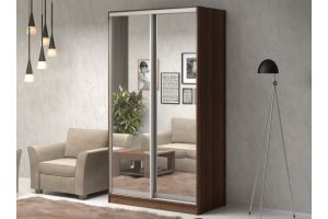 Шкаф-купе зеркальный Рамир 1 4 3 - Мебельная фабрика «ДиВа мебель»