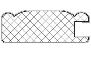 Рамочный профиль №1037 - Оптовый поставщик комплектующих «АртПрофиль»