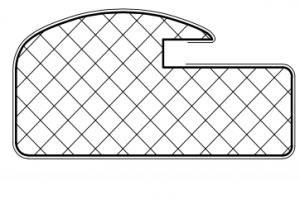 Рамочный профиль №596 - Оптовый поставщик комплектующих «АртПрофиль»