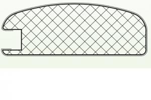 Рамочный профиль №EL45 - Оптовый поставщик комплектующих «АртПрофиль»