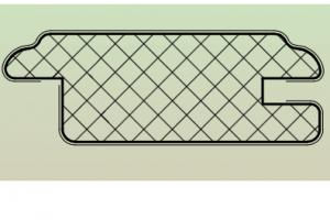 Рамочный профиль №EL75 - Оптовый поставщик комплектующих «АртПрофиль»
