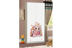 Распашной шкаф в детскую Принцесса - Мебельная фабрика «Эльбрус-М»