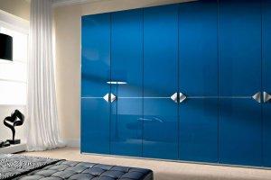 Распашной синий шкаф  - Мебельная фабрика «Елиза»