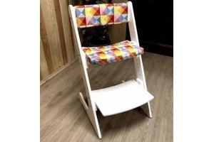 Растущий регулируемый стул Белый - Мебельная фабрика «КонЁк-ГорбунЁк»