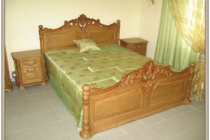 Резная деревянная кровать - Мебельная фабрика «СибСервис»