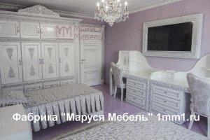 Резная детская мебель с кристаллами Сваровски - Мебельная фабрика «Маруся мебель»