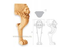 Резная ножка Лев для стула MN-046 - Оптовый поставщик комплектующих «Ставрос»