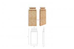 Резная пилястра BS-003 - Оптовый поставщик комплектующих «Ставрос»