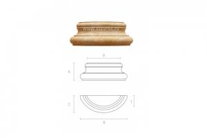 Резная пилястра BS-005 - Оптовый поставщик комплектующих «Ставрос»