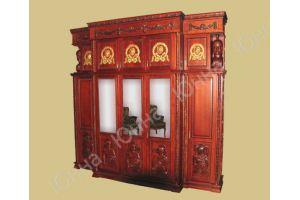 Резной деревянный шкаф - Мебельная фабрика «ЮННА»