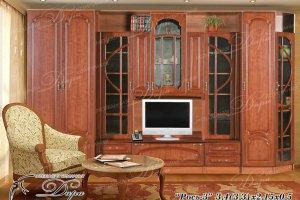 Стенка в гостиную Рось-3 - Мебельная фабрика «Дара»