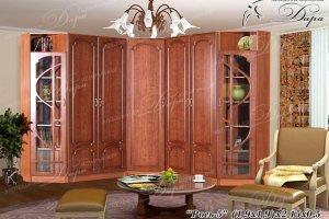 Угловой шкаф в гостиную Рось-5 - Мебельная фабрика «Дара»