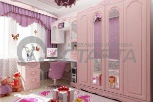 Розовая детская Анастасия - Мебельная фабрика «Астарта»