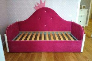 Розовая кровать для девочки - Мебельная фабрика «Ритм»