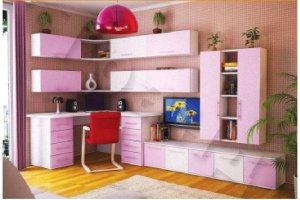 Розовая мебель для детской Матильда - Мебельная фабрика «Альфа-М»