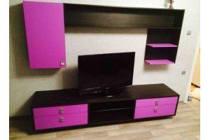 Розовая стенка в гостиную - Мебельная фабрика «SamSam»