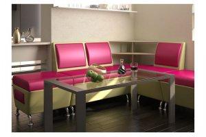 Розовый кухонный уголок - Мебельная фабрика «Форум»