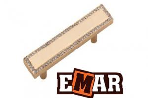 Ручка для кухни ECC 0043 со стразами под золото - Оптовый поставщик комплектующих «Емар»