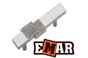 Ручка для кухни EMC 0044 со стразами под хром - Оптовый поставщик комплектующих «Емар»