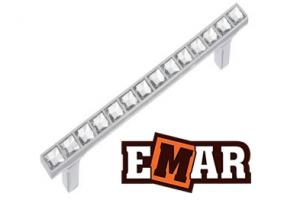 Ручка для кухни EСC 0066 хром и золото - Оптовый поставщик комплектующих «Емар»