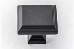 Ручка кнопка 3114S черный матовый - Оптовый поставщик комплектующих «Озёрская фурнитурная компания»