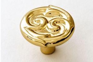 Ручка кнопка 6107S золото - Оптовый поставщик комплектующих «Озёрская фурнитурная компания»