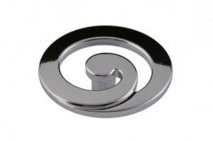 Ручка-кнопка FМ-102 000 (хром) - Оптовый поставщик комплектующих «КДМ»