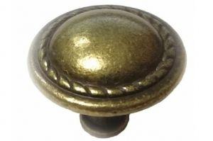Ручка кнопка К-8156, атник бронза (100*) - Оптовый поставщик комплектующих «Виком»
