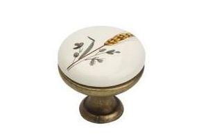 Ручка-кнопка K8005, 96мм, античная бронза, керамика WT/F0 - Оптовый поставщик комплектующих «МФ-КОМПЛЕКТ»