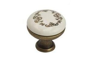 Ручка-кнопка K8005, 96мм, античная бронза, керамика WT/F2 - Оптовый поставщик комплектующих «МФ-КОМПЛЕКТ»