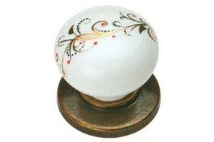 Ручка-кнопка Oscar (бронза/белый) - Оптовый поставщик комплектующих «КДМ»