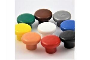 Ручка кнопка пластик №1 белый (100*) - Оптовый поставщик комплектующих «Виком»