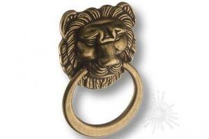 Ручка кольцо на подложке Лев - Оптовый поставщик комплектующих «Брасс»