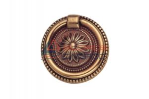 Ручка кольцо с накладкой Патина - Оптовый поставщик комплектующих «СЛОРОС»