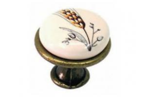 Ручка-кнопка с фарфором Колосок Арт.71.02.4 - Оптовый поставщик комплектующих «Европа»