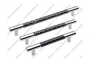 Ручка-рейлинг алюминий черный+хром 14.339 - 14.343 - Оптовый поставщик комплектующих «Модерн-Стиль А»