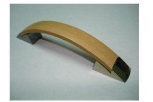 Ручка скоба №27 золото/бук (250*) - Оптовый поставщик комплектующих «Виком»